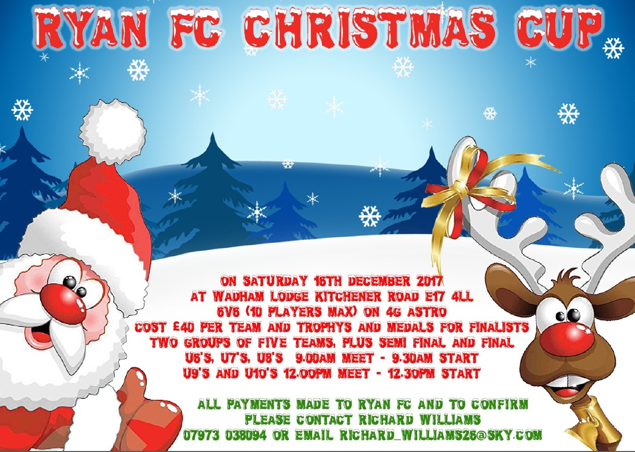 Christmas Cup - Saturday 16th December