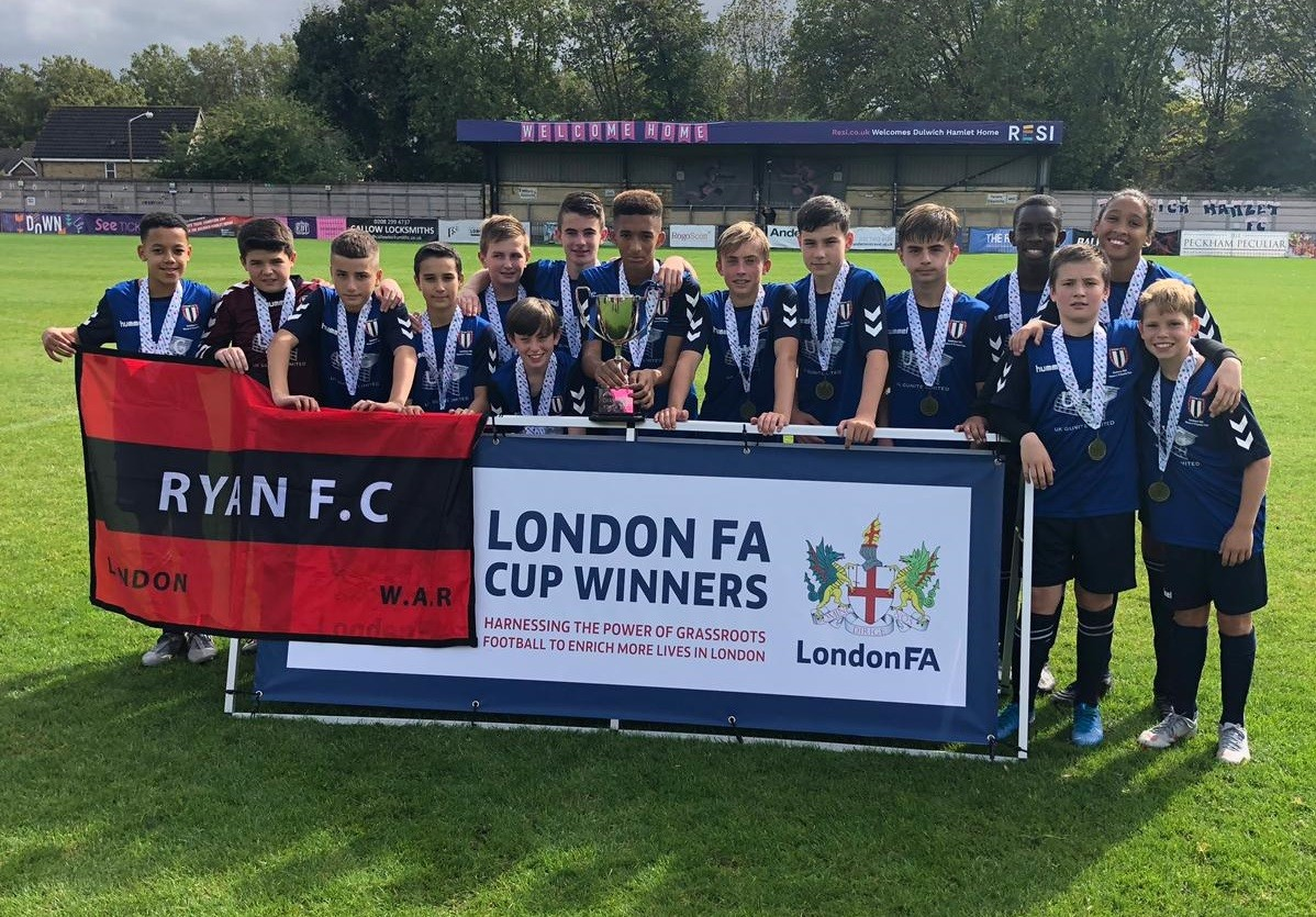 Under 13s Green EJA London Cup and Champions of Champions County Cup Winners 2019/20